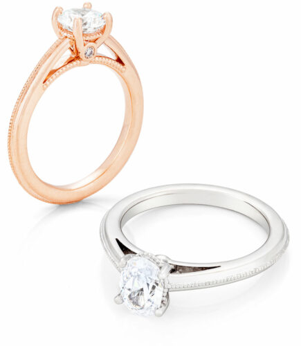 je t'aime bridal ring collection