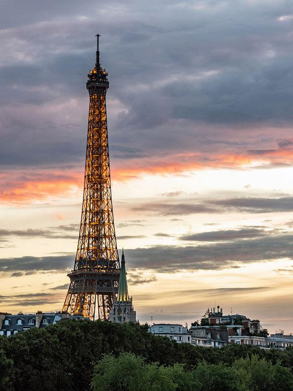Eiffel at Sunset