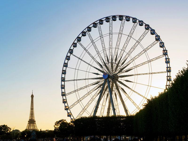 Eiffel Tower and the Grand Roue de Paris