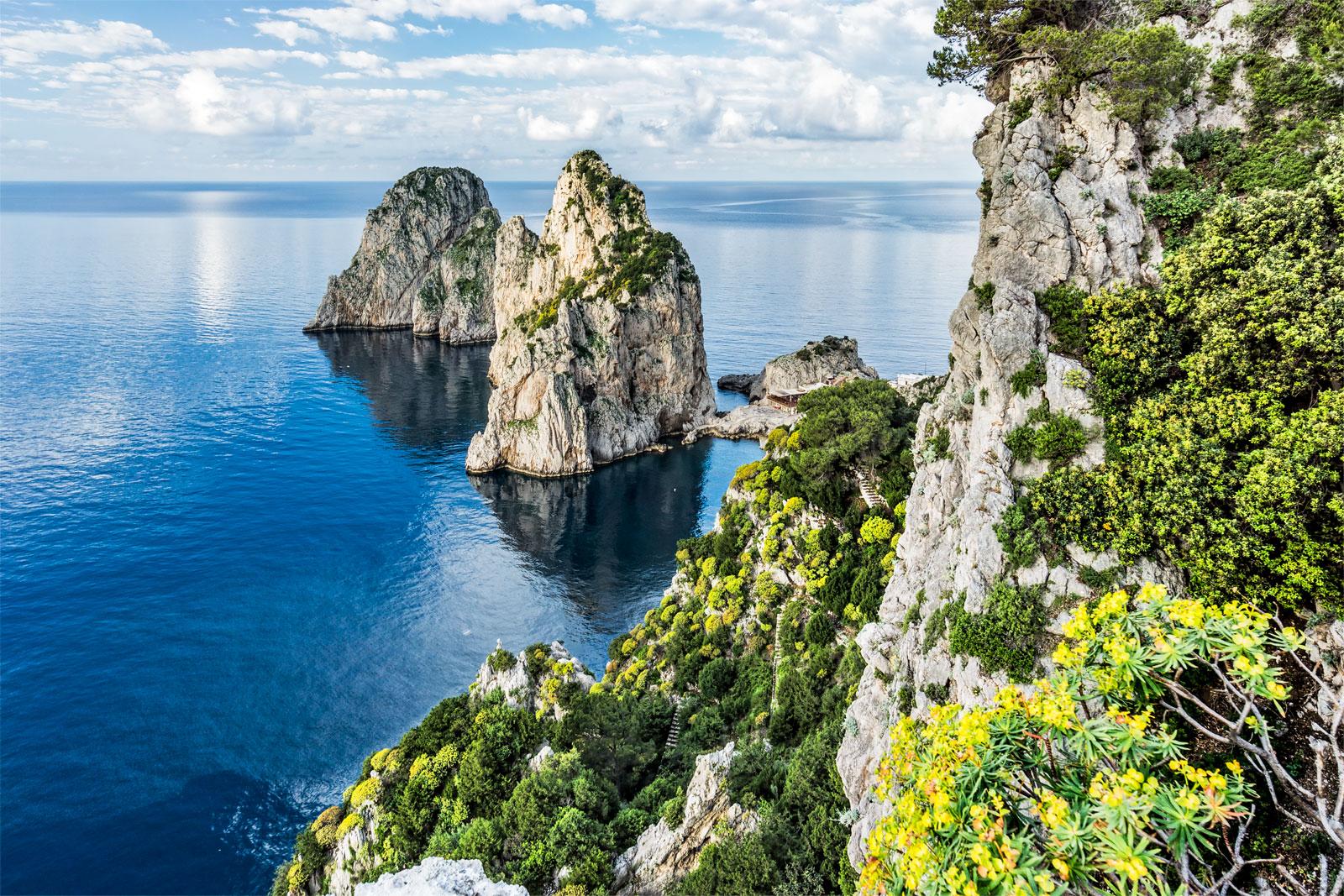 Capri's Faraglioni