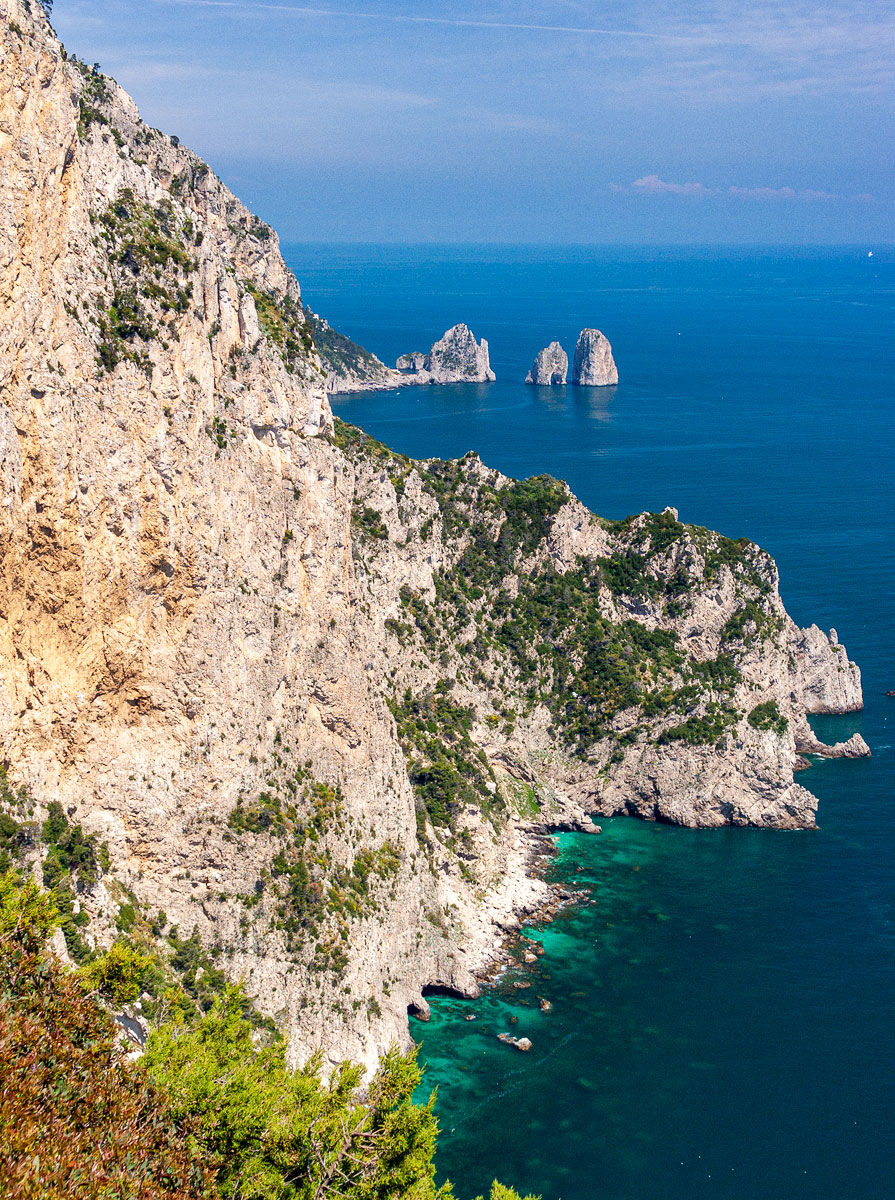 View from atop Capri